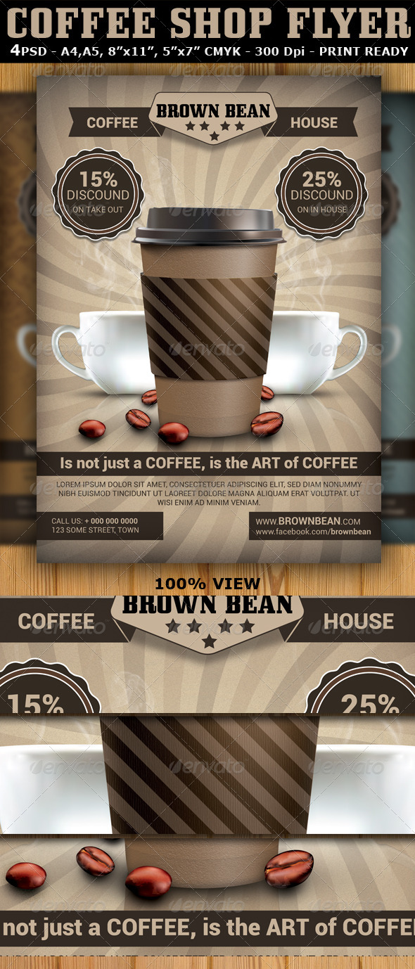 GraphicRiver Coffee Shop Magazine Ad or Flyer Template V2 5513528