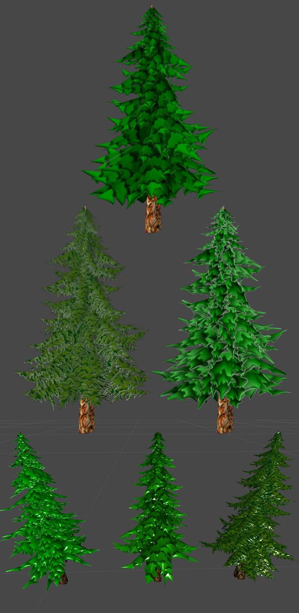 3DOcean Toon Pine Tree 5513624