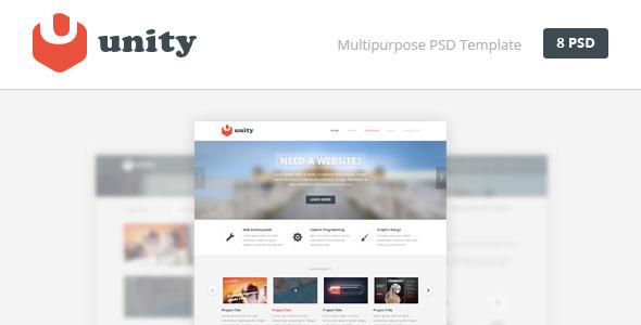 Unity - Multipurpose PSD Template - Creative PSD Templates