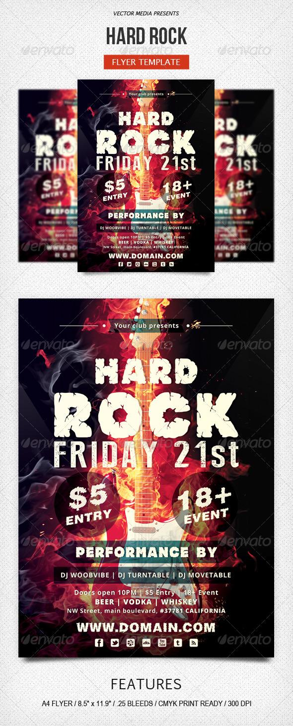 GraphicRiver Hard Rock Flyer 5513684