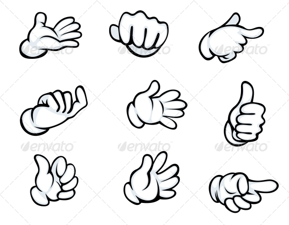 GraphicRiver Set of Hand Gestures 5513760