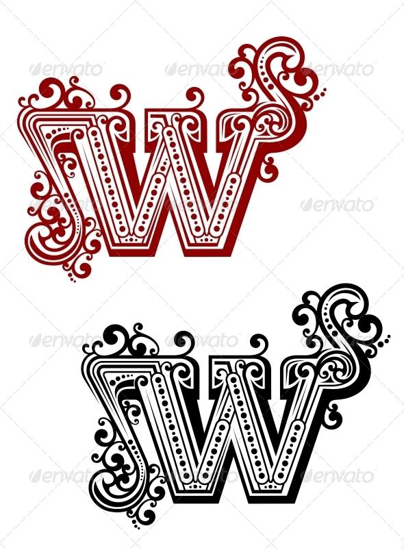 GraphicRiver Retro W letter 5513788