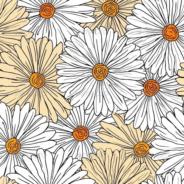 GraphicRiver Camomiles Seamless Background 5513855