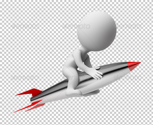 GraphicRiver 3D small people rocket 5514087