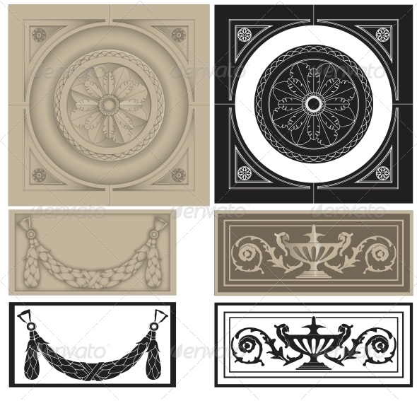 GraphicRiver Decorative Pane Set 5514332
