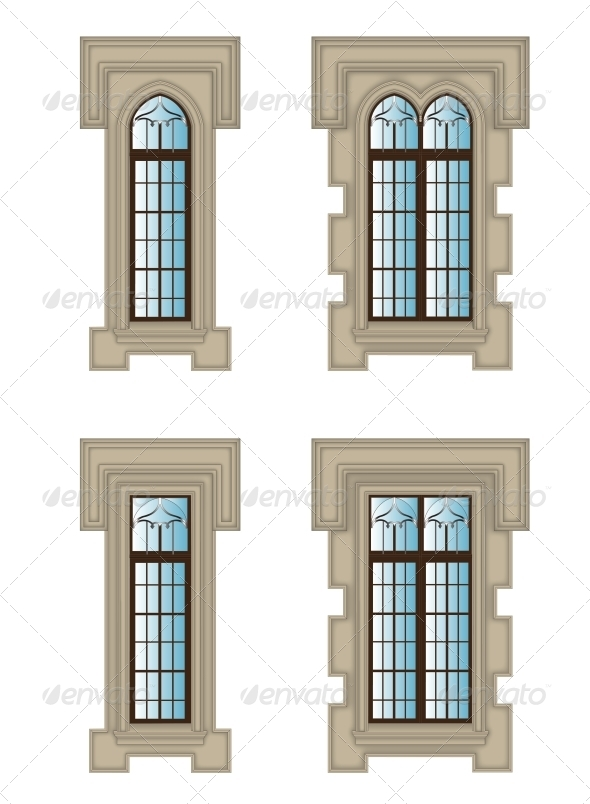 GraphicRiver Gothic Windows Set 5514354
