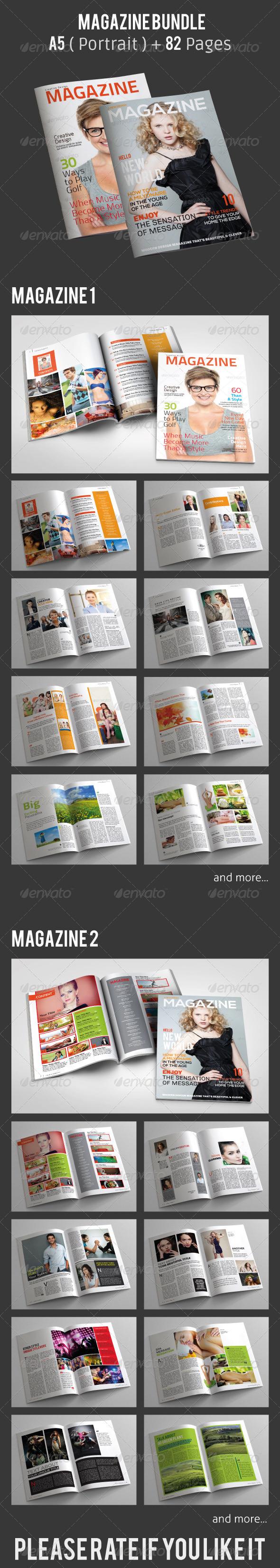 GraphicRiver A5 Magazine Bundle 5514427