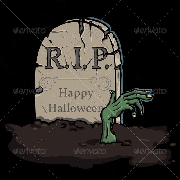 GraphicRiver Zombie Crawls Out of the Grave 5514428