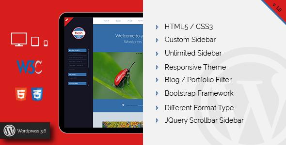 ThemeForest Fresh Blog and Personal Wordpress Theme 5464161