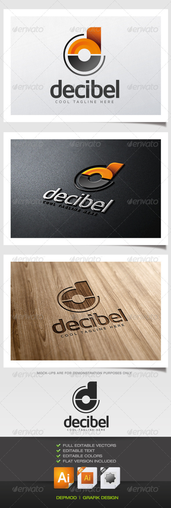 GraphicRiver Decibel Logo 5487964