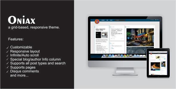 Oniax – Responsive Tumblr Theme (Tumblr) images