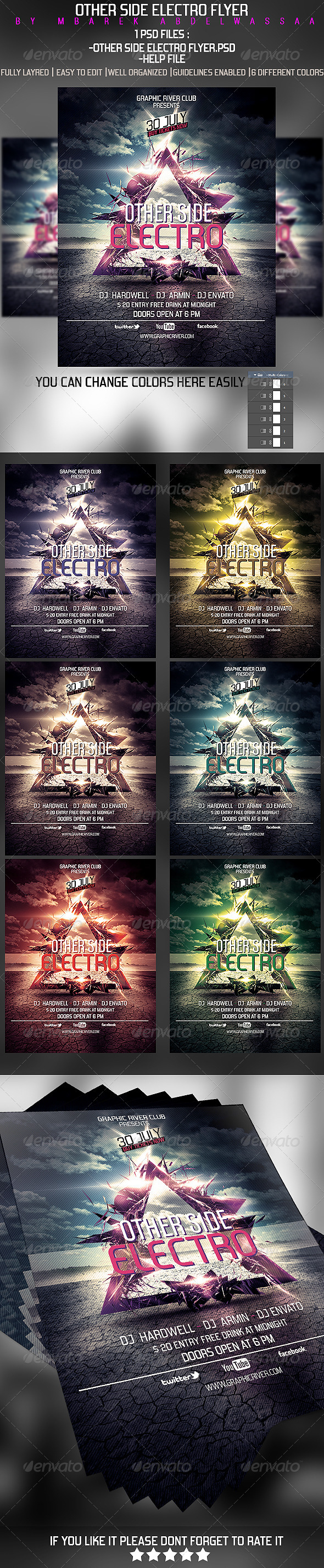 GraphicRiver Other Side Electro Flyer 5473071