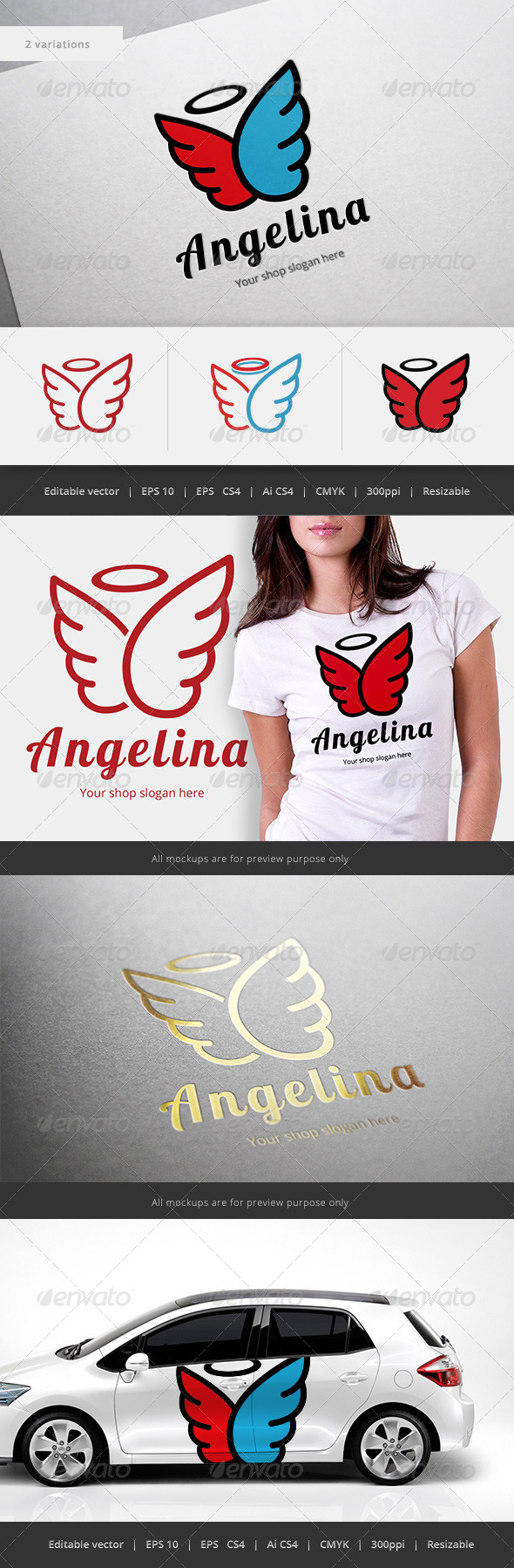 GraphicRiver Angelina Logo 5515186