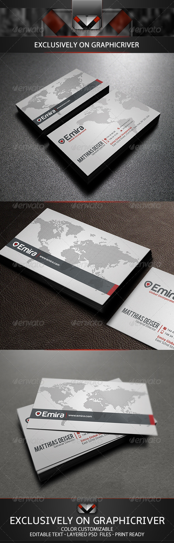 GraphicRiver Modern White Business Card 5515217