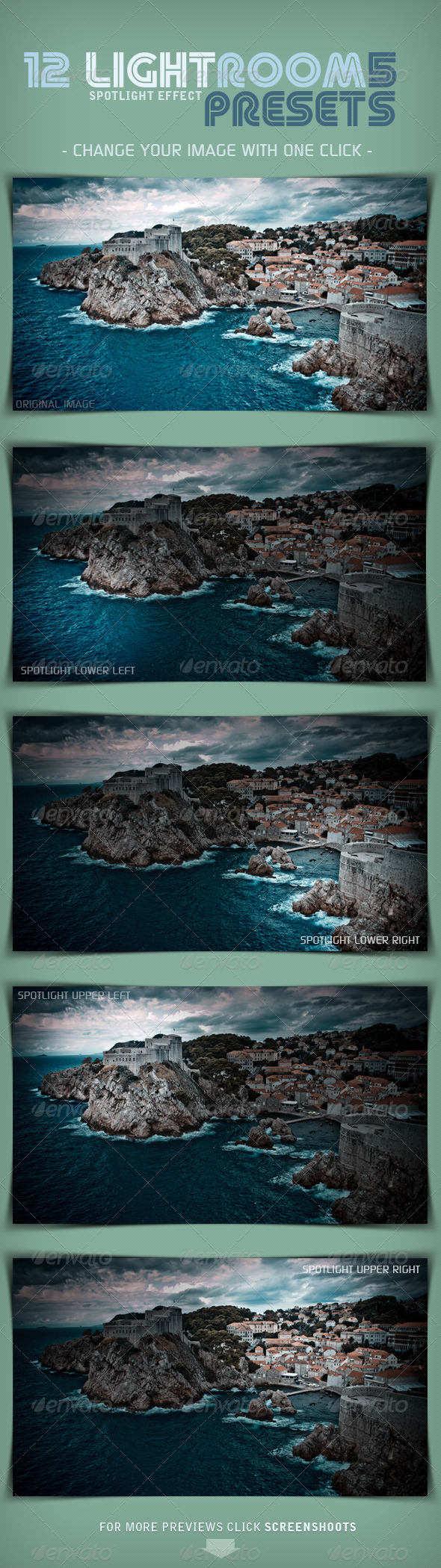 GraphicRiver 12 LR5 Presets Spotlight Effect 5515303
