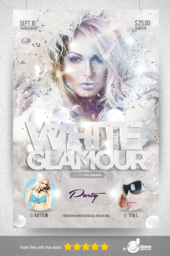 Flyer White Glamour Party - Clubs & Parties Events