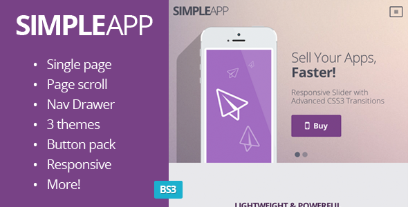ThemeForest SimpleApp Single Page Scrolling Site 5489963