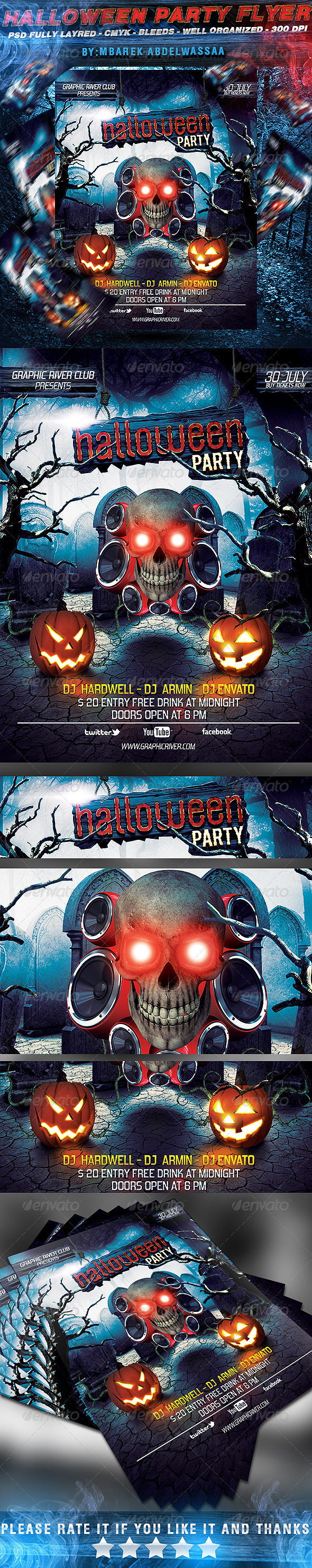 GraphicRiver Halloween Party Flyer 5515517