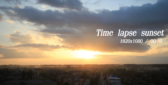 VideoHive Time Lapse Sunset 5484599