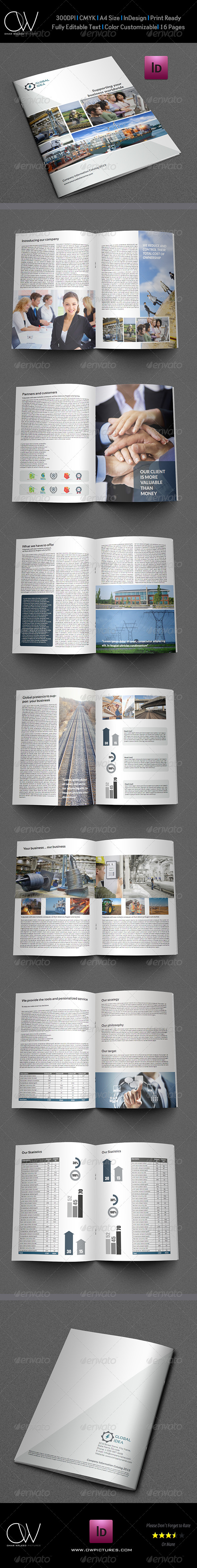 Company Brochure Template Vol.5 - 16 Pages - Brochures Print Templates