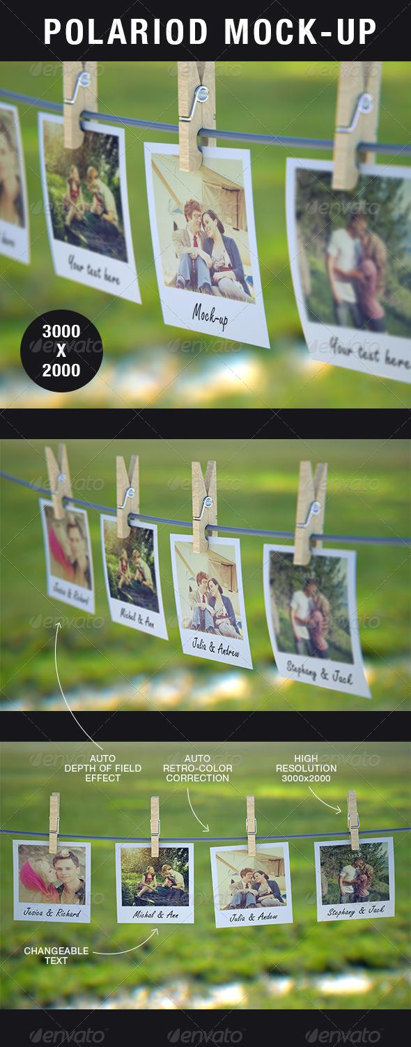 GraphicRiver Polaroid Mock-Up 5490233