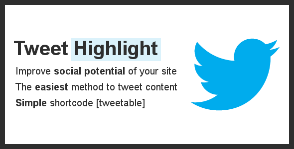 CodeCanyon Tweet Highlight Wordpress Plugin 5476958