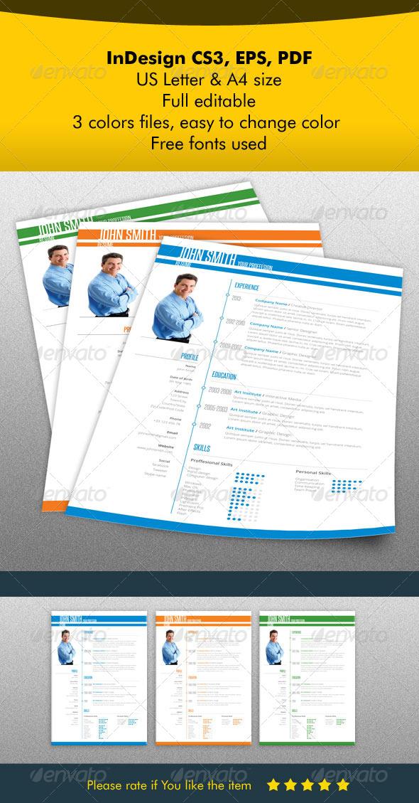 GraphicRiver Resume Light Design 5516641