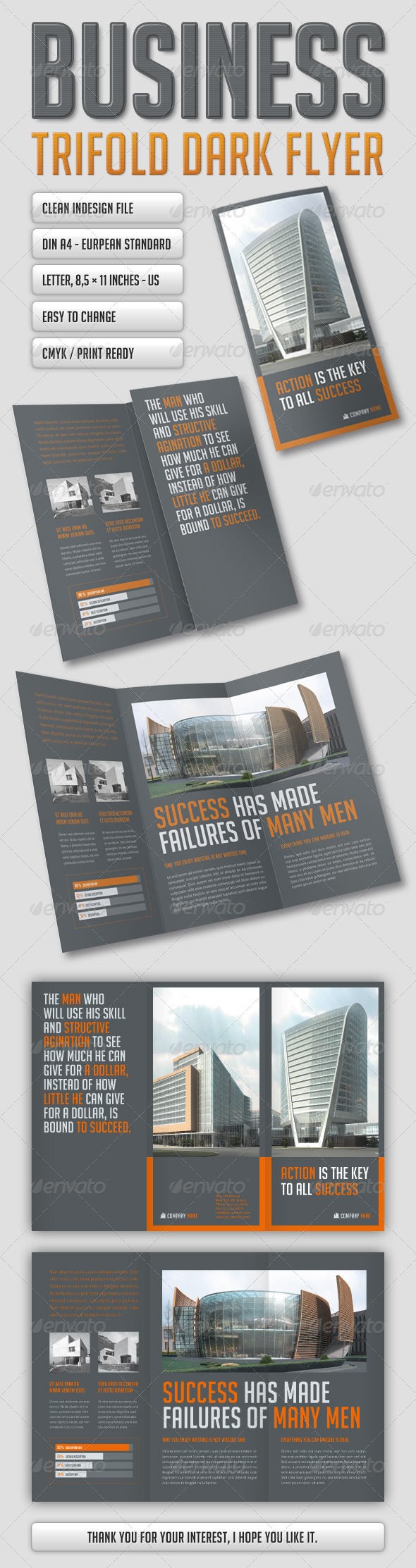 GraphicRiver Business Flyer Dark 5516742