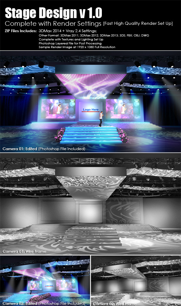 3DOcean Stage Design v1.0 Complete Render Settings 5516831