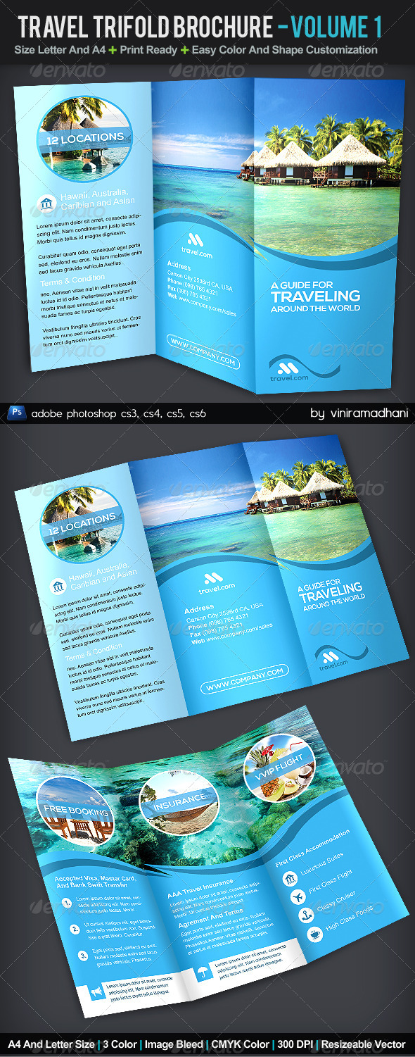 GraphicRiver Travel TriFold Brochure Volume 1 5516832
