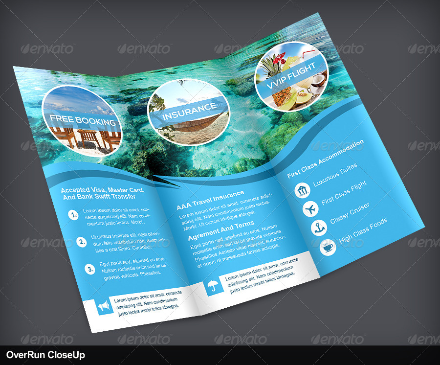 Travel Trifold Brochure Volume 1 By Vinirama Graphicriver