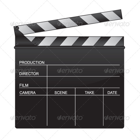 clapper board template envelope stock photos graphics. Black Bedroom Furniture Sets. Home Design Ideas