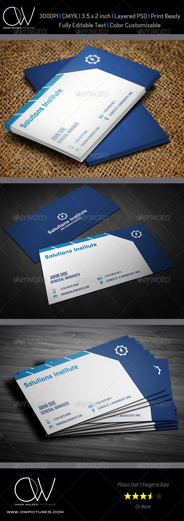 Corporate Business Card Template Vol.35 - Corporate Business Cards