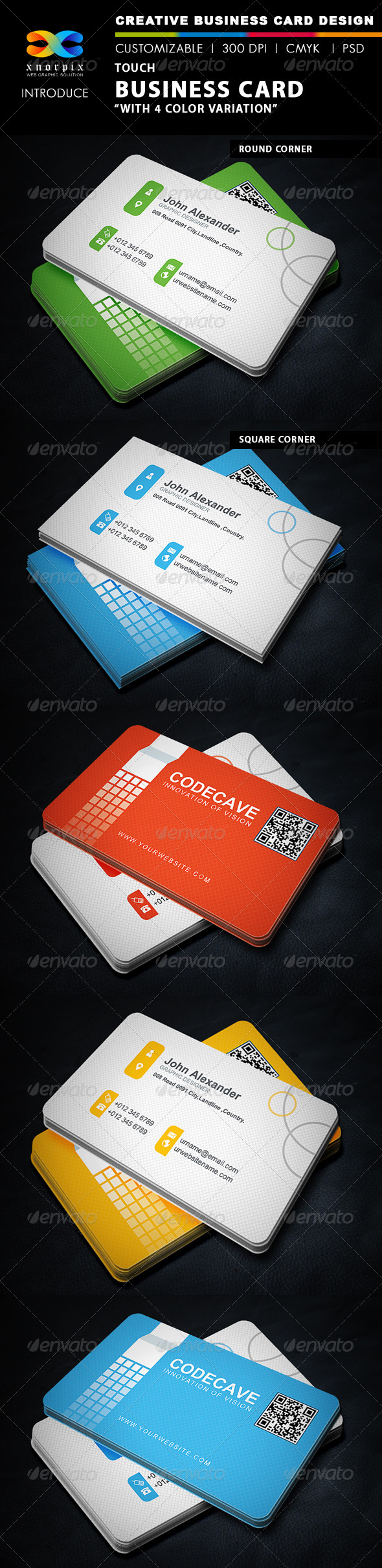 GraphicRiver Touch Business Card 5516994
