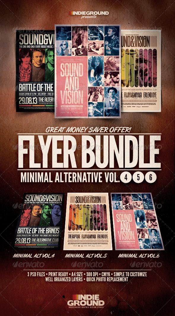 GraphicRiver Minimal Alternative Flyer Poster Bundle Vol 4-6 5517215