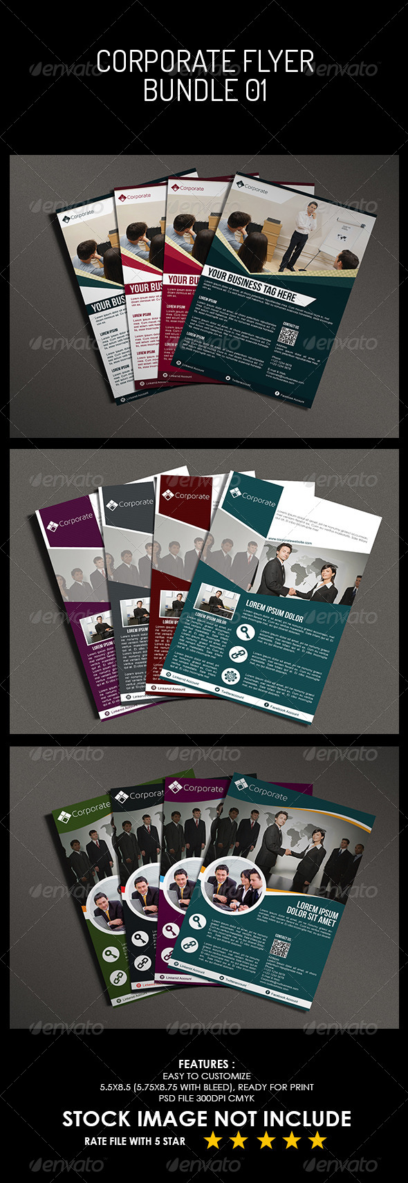 GraphicRiver Corporate Flyer Bundle 02 5495886