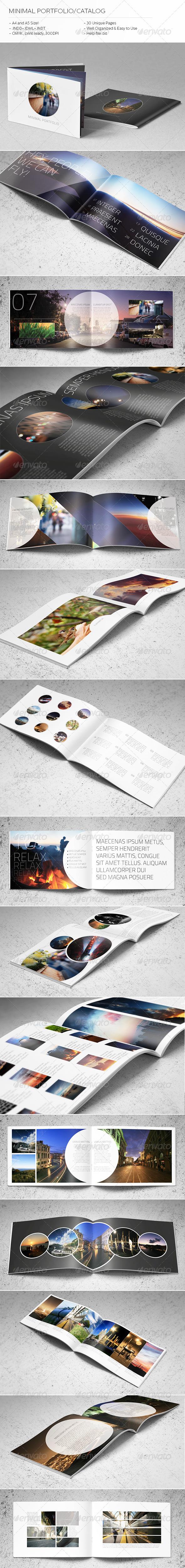Minimal Catalog/Portfolio Template - Brochures Print Templates