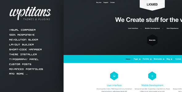 ThemeForest Liqued Responsive Business Theme 5478789