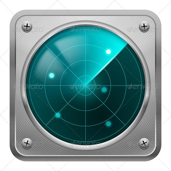 GraphicRiver Radar Screen in Metal Frame 5517519