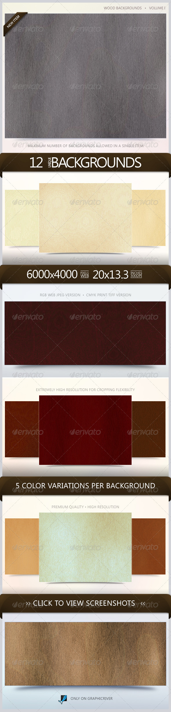 GraphicRiver Wood Backgrounds Volume 1 5518010