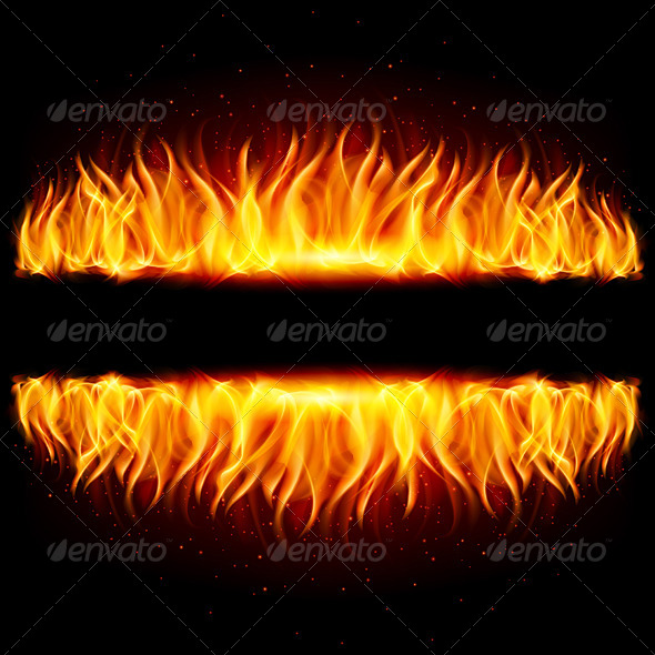 GraphicRiver Two Walls of Fire 5518207