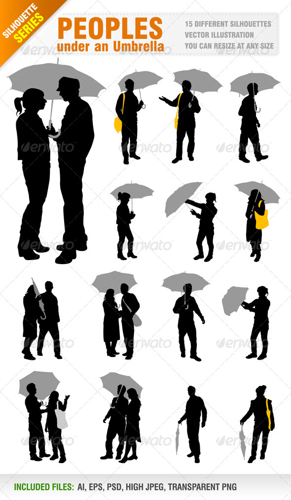 GraphicRiver People Under an Umbrella 5518295