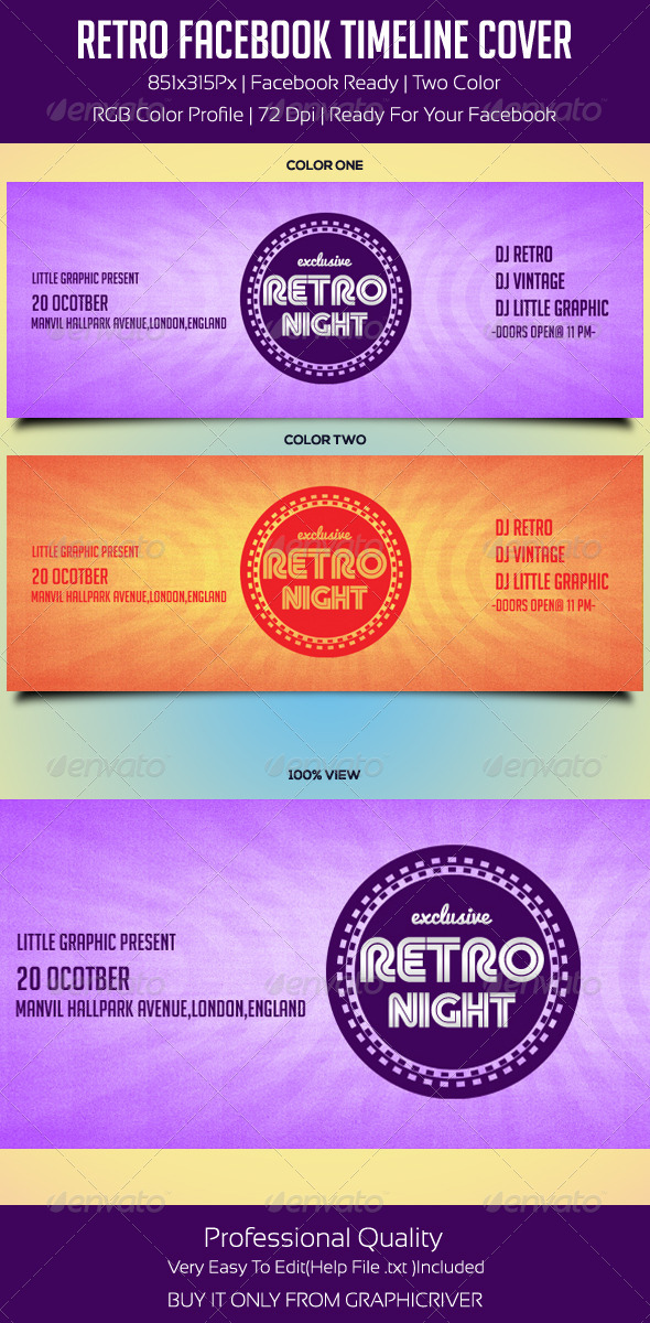 Premium Retro Fb Timeline Cover - Facebook Timeline Covers Social Media