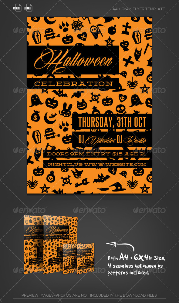 Halloween Event Party Flyer Template - Holidays Events