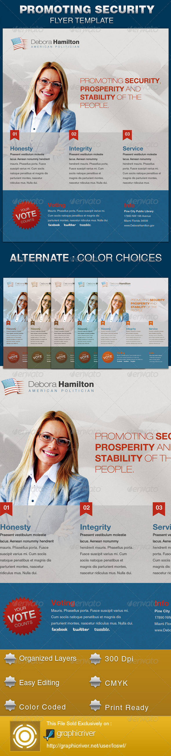 GraphicRiver Promoting Security Political Flyer Template 5519748