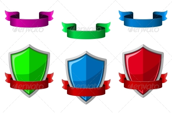 GraphicRiver Security Icons with Shields and Ribbons 5520637