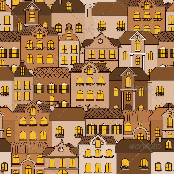 GraphicRiver Old Town Seamless Pattern 5520662
