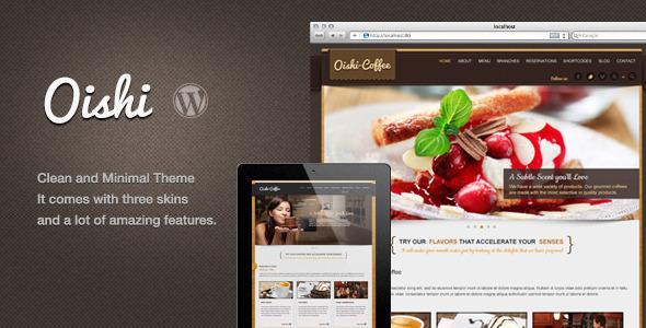 ThemeForest Oishi WordPress Theme 5453865