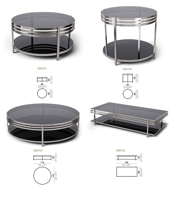 3DOcean Set tables Arketipo Ula 4 items 5520695