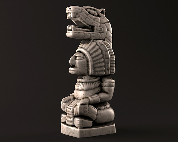Mayan Warrior Statue - 3DOcean Item for Sale